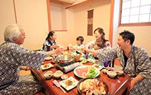 家族水入らず♪美味しい食事とゆったり空間で大切な方との素敵な時間を満喫してください♪